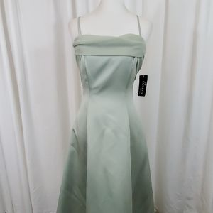 ALEXIA DESIGNS Light Green Evening Gown